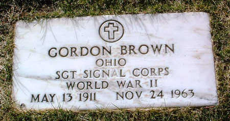BROWN, GORDON - Yavapai County, Arizona | GORDON BROWN - Arizona Gravestone Photos