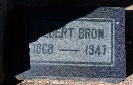 BROW, ALBERT - Yavapai County, Arizona | ALBERT BROW - Arizona Gravestone Photos