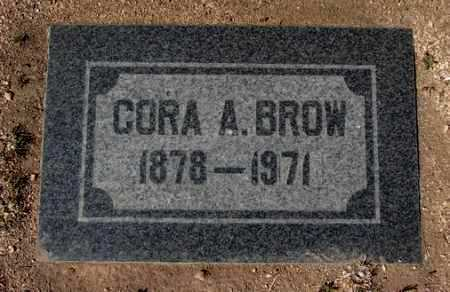 BROW, CORA A. - Yavapai County, Arizona | CORA A. BROW - Arizona Gravestone Photos