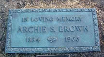 BROWN, ARCHIE STEVENS - Yavapai County, Arizona | ARCHIE STEVENS BROWN - Arizona Gravestone Photos