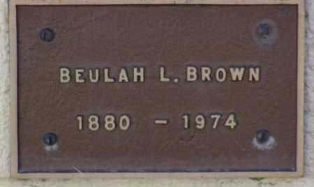 BAEHEMIN BROWN, BEULAH LUNA - Yavapai County, Arizona | BEULAH LUNA BAEHEMIN BROWN - Arizona Gravestone Photos