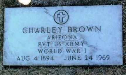 BROWN, CHARLEY - Yavapai County, Arizona | CHARLEY BROWN - Arizona Gravestone Photos