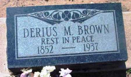 BROWN, DERIUS M. - Yavapai County, Arizona | DERIUS M. BROWN - Arizona Gravestone Photos