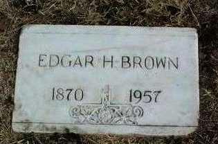 BROWN, EDGAR H. - Yavapai County, Arizona   EDGAR H. BROWN - Arizona Gravestone Photos