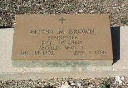 BROWN, ELTON M. - Yavapai County, Arizona | ELTON M. BROWN - Arizona Gravestone Photos