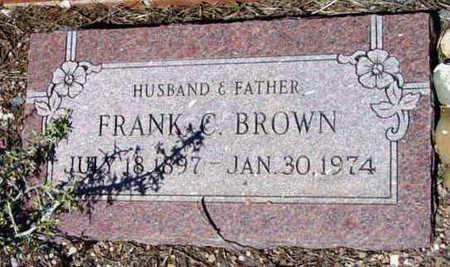 BROWN, FRANK CORNELIUS - Yavapai County, Arizona   FRANK CORNELIUS BROWN - Arizona Gravestone Photos