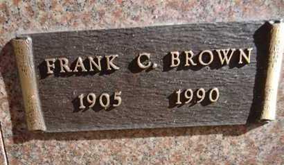 BROWN, FRANKLIN CYRUS (FRANK) - Yavapai County, Arizona   FRANKLIN CYRUS (FRANK) BROWN - Arizona Gravestone Photos