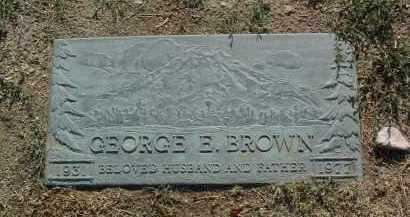 BROWN, GEORGE EDWARD - Yavapai County, Arizona   GEORGE EDWARD BROWN - Arizona Gravestone Photos