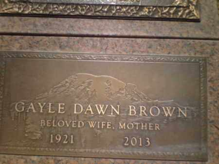 BROWN BROWN, GAYLE DAWN - Yavapai County, Arizona | GAYLE DAWN BROWN BROWN - Arizona Gravestone Photos