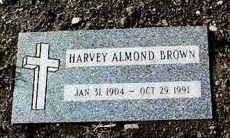 BROWN, HARVEY ALMOND - Yavapai County, Arizona | HARVEY ALMOND BROWN - Arizona Gravestone Photos