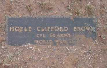 BROWN, HOYLE CLIFFORD - Yavapai County, Arizona | HOYLE CLIFFORD BROWN - Arizona Gravestone Photos