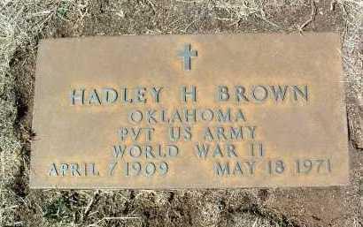 BROWN, HADLEY H. - Yavapai County, Arizona   HADLEY H. BROWN - Arizona Gravestone Photos