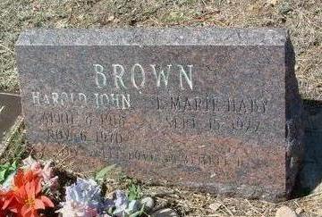 BROWN, HAROLD JOHN - Yavapai County, Arizona | HAROLD JOHN BROWN - Arizona Gravestone Photos