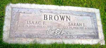 BROWN, SARAH L. - Yavapai County, Arizona | SARAH L. BROWN - Arizona Gravestone Photos