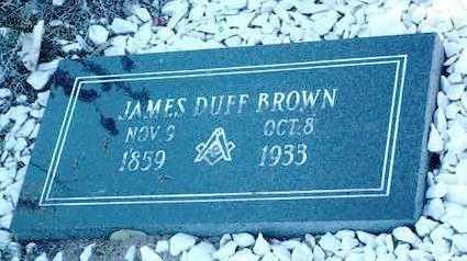 BROWN, JAMES DUFF - Yavapai County, Arizona | JAMES DUFF BROWN - Arizona Gravestone Photos