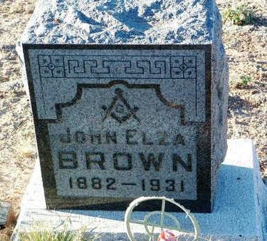 BROWN, JOHN ELZA - Yavapai County, Arizona | JOHN ELZA BROWN - Arizona Gravestone Photos