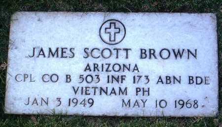 BROWN, JAMES SCOTT - Yavapai County, Arizona | JAMES SCOTT BROWN - Arizona Gravestone Photos