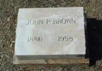 BROWN, JOHN P. - Yavapai County, Arizona | JOHN P. BROWN - Arizona Gravestone Photos