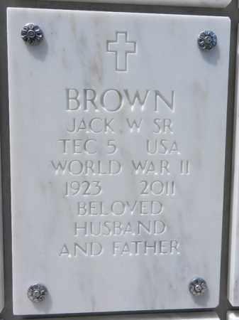 BROWN, JACK WESLEY, SR. - Yavapai County, Arizona | JACK WESLEY, SR. BROWN - Arizona Gravestone Photos