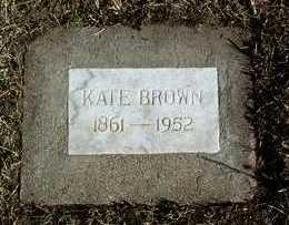 BROWN, KATE - Yavapai County, Arizona | KATE BROWN - Arizona Gravestone Photos