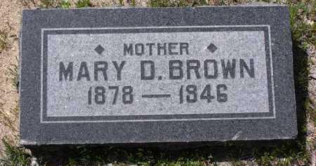 BROWN, MARY D. - Yavapai County, Arizona | MARY D. BROWN - Arizona Gravestone Photos