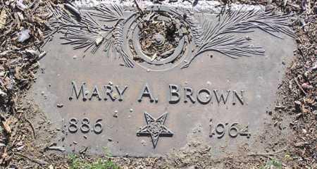 BROWN, MARY A. - Yavapai County, Arizona   MARY A. BROWN - Arizona Gravestone Photos