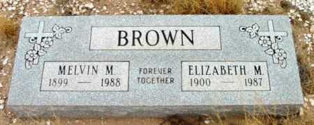 BROWN, ELIZABETH M. - Yavapai County, Arizona | ELIZABETH M. BROWN - Arizona Gravestone Photos