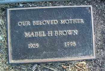 BROWN, MABEL H. - Yavapai County, Arizona | MABEL H. BROWN - Arizona Gravestone Photos