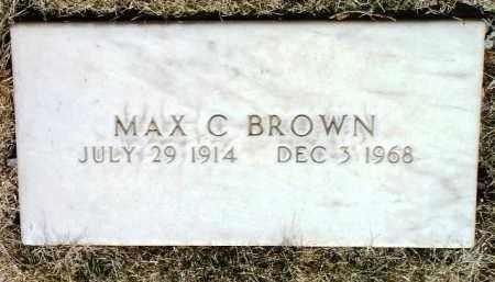 BROWN, MAX CLAYTON - Yavapai County, Arizona   MAX CLAYTON BROWN - Arizona Gravestone Photos