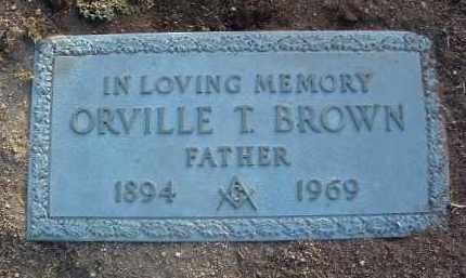 BROWN, ORVILLE THOMAS - Yavapai County, Arizona | ORVILLE THOMAS BROWN - Arizona Gravestone Photos