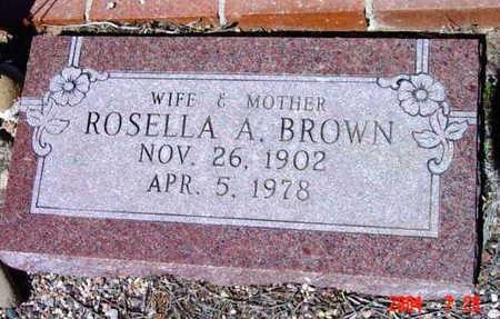 OLSON BROWN, ROSELLA A. - Yavapai County, Arizona | ROSELLA A. OLSON BROWN - Arizona Gravestone Photos