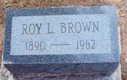 BROWN, ROY LESTER - Yavapai County, Arizona   ROY LESTER BROWN - Arizona Gravestone Photos