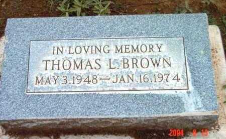 BROWN, THOMAS LEWIS - Yavapai County, Arizona | THOMAS LEWIS BROWN - Arizona Gravestone Photos