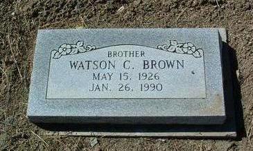 BROWN, WATSON CLARENCE, JR. - Yavapai County, Arizona   WATSON CLARENCE, JR. BROWN - Arizona Gravestone Photos