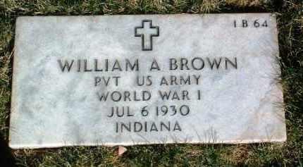 BROWN, WILLIAM ALBERT - Yavapai County, Arizona   WILLIAM ALBERT BROWN - Arizona Gravestone Photos