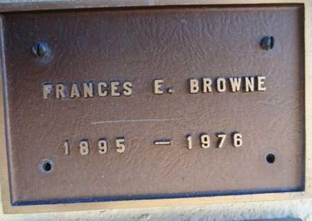 BROWNE, FRANCES E. - Yavapai County, Arizona | FRANCES E. BROWNE - Arizona Gravestone Photos