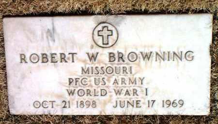 BROWNING, ROBERT W. - Yavapai County, Arizona | ROBERT W. BROWNING - Arizona Gravestone Photos