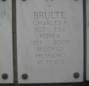 BRULTE, CHARLES F - Yavapai County, Arizona | CHARLES F BRULTE - Arizona Gravestone Photos