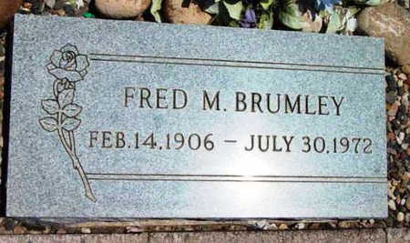 BRUMLEY, FRED M. - Yavapai County, Arizona | FRED M. BRUMLEY - Arizona Gravestone Photos