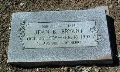 BRYANT, JEAN B. - Yavapai County, Arizona   JEAN B. BRYANT - Arizona Gravestone Photos