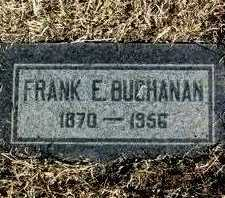 BUCHANAN, FRANK E. - Yavapai County, Arizona   FRANK E. BUCHANAN - Arizona Gravestone Photos