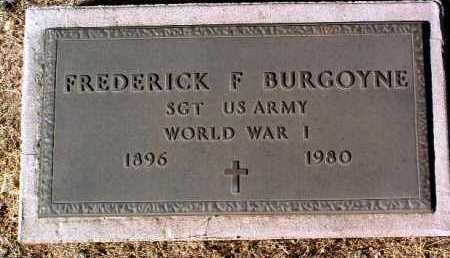 BURGOYNE, FREDRICK FRANCIS - Yavapai County, Arizona   FREDRICK FRANCIS BURGOYNE - Arizona Gravestone Photos