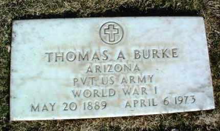BURKE, THOMAS ANTHONY - Yavapai County, Arizona   THOMAS ANTHONY BURKE - Arizona Gravestone Photos