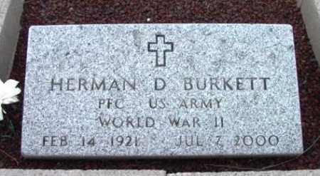 BURKETT, HERMAN DAVID - Yavapai County, Arizona | HERMAN DAVID BURKETT - Arizona Gravestone Photos