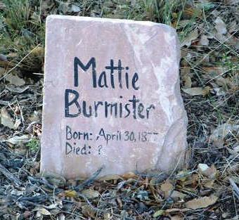 ALLEN BURMISTER, MATTIE - Yavapai County, Arizona | MATTIE ALLEN BURMISTER - Arizona Gravestone Photos