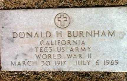 BURNHAM, DONALD H. - Yavapai County, Arizona   DONALD H. BURNHAM - Arizona Gravestone Photos