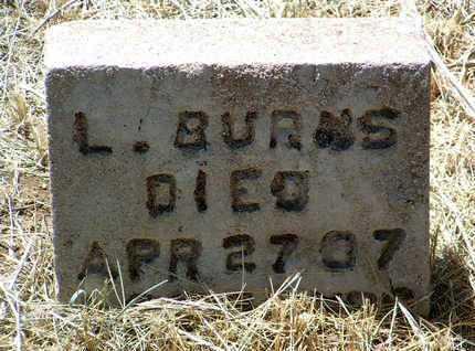 BURNS, LOUIS L. - Yavapai County, Arizona | LOUIS L. BURNS - Arizona Gravestone Photos