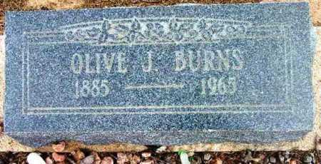 BURNS, OLIVE JANE - Yavapai County, Arizona | OLIVE JANE BURNS - Arizona Gravestone Photos