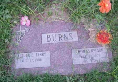 BURNS, THOMAS NELSON - Yavapai County, Arizona | THOMAS NELSON BURNS - Arizona Gravestone Photos