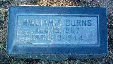 BURNS, WILLIAM FRANK - Yavapai County, Arizona   WILLIAM FRANK BURNS - Arizona Gravestone Photos